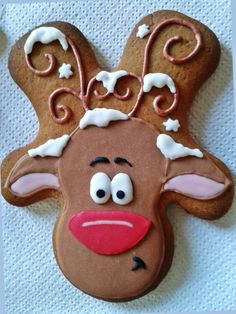 Gingerbread Reindeer Cookie