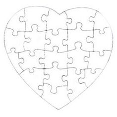 Gallery For > Heart Puzzle Pieces Template