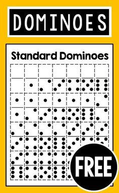 FREE printable dominoes for elementary teachers