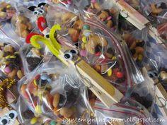 PynteMynthe og Mor: Fødselsdags uddeling til børnehaven - Sommerfugle godteposer // DIY