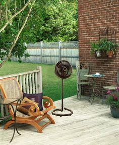 50cm Pedestal Fan For Back Yard Outdoor Misting Patio Backyard