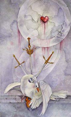 Shadowscapes Tarot ~~ 3 of Swords