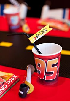 FREE Printables: Disney Pixar Cars themed birthday party printables featuring checkered patterns, lightning bolts, tire marks, flames, and car emblems! Car Themed Parties, Cars Birthday Parties, Birthday Fun, Birthday Ideas, Fourth Birthday, Birthday Nails, Party Printables, Free Printables, Lightning Mcqueen Party