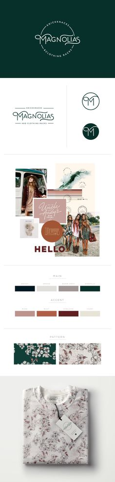 vintage clothing store branding, vintage logo, logo design, branding, graphic design, logo, simple logo, modern logo, bohemian logo, bohemian branding, mood board, colorful branding, warm and cool, emerald green, rust orange, oxblood red,