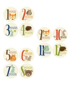 Look at this Penny & Prince Woodland 1-12 Months Baby Sticker Set on #zulily today!