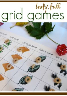 fun fall grid games = math and literacy learning!  | I LOVE grid games for quick and easy fun--> free printables!