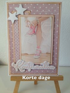 Følg min side på Facebook: korte dage Confirmation Cards, Diy And Crafts, Paper Crafts, Scrapbook Cards, Scrapbooking, Cardmaking, Art Deco, Frame, Creative