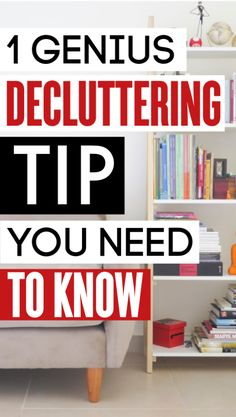 Pin for Later! (Or Share with a Friend Who Would Like This) This decluttering tip is the BEST!! It's completely changed how I think about clutter and getting organized. Seriously, one of the best decluttering ideas I've ever read!
