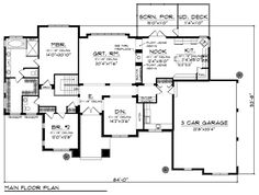House Plan chp-43527 at COOLhouseplans.com kitchen layout, greatroom