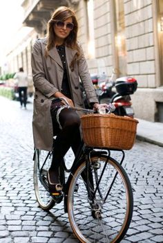 Who says you can't look fashionable on a Bike?