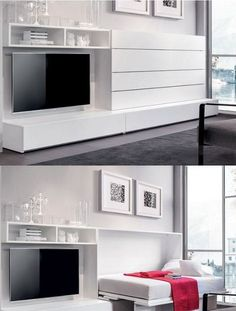 Modern Murphy Bed With Closet.Spring Wall Bed Modern Bedroom Austin By . These 10 Modern Murphy Beds Will Help You Maximize Space . Home and Family Cama Murphy, Murphy Bed Ikea, Murphy Bed Plans, Murphy Bed With Couch, Murphy Bed Office, Bedroom Furniture, Furniture Design, Bedroom Decor, Furniture Ideas
