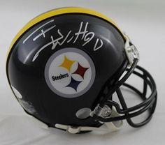 0416c3b57 TJ Watt Autographed Pittsburgh Steelers Riddell Mini Helmet Silver JSA