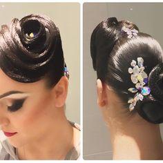 Creative Hairstyles, Unique Hairstyles, Braided Hairstyles, Dance Competition Hair, Ballroom Dance Hair, Haircut Designs, Dance Hairstyles, Hair Setting, Hair Dos