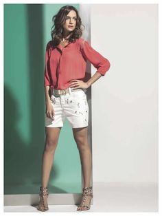 Maria Valentina, White Shorts, Bermuda Shorts, Women, Fashion, Moda, Fashion Styles, Fashion Illustrations, Shorts