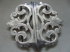 "Silver ""nurses belt"" buckle hallmarked Birmingham 1901 [eBay]"