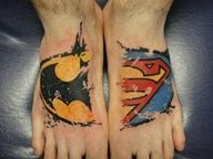 Superman Batman tattoo