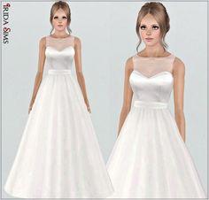 Wedding dress 30-I by Irida - Sims 3 Downloads CC Caboodle