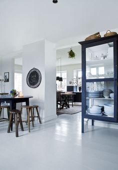 Tine K's Christmas home - Kate Young Design Living Dining Room, Interior Design, White Floors, Furniture, Home, Interior, Living Spaces, White Floors Living Room, Home Decor