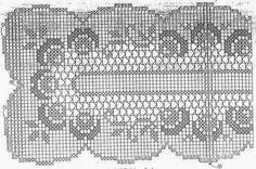 Szydełkomania: Serwety Filet Crochet Charts, Crochet Stitches, Crochet Patterns, Crochet Home, Knit Crochet, Crochet Dollies, Crochet Tablecloth, Lace Doilies, Crochet Projects