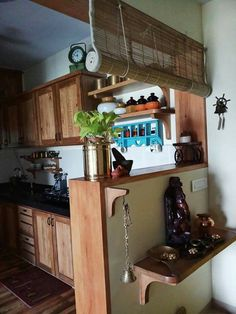 Floating Shelves Under Tv Ikea Hacks. Pooja Rooms, Indian Home Decor, Shelves, Interior, Home, Diy Kitchen Countertops, Shelf Decor, Home Diy, Interior Design