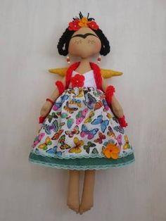 molde da boneca frida kahlo - Pesquisa Google
