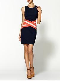 C.Luce Striped Waist Dress
