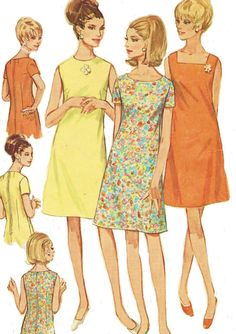 1960s Simplicity Sewing Pattern 7120 Womens A Line by CloesCloset