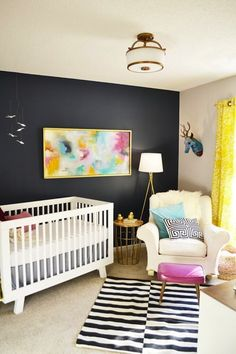 Modern Nursery with Abstract Art