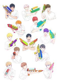 Babies ♥ Seventeen Memes, Seventeen Debut, Wonwoo, Jeonghan, Cartoon Fan, Kdrama Memes, Seventeen Wallpapers, Kawaii Wallpaper, Kpop Fanart
