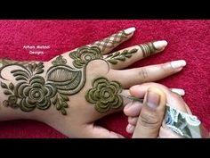 Modern Henna Designs, Rose Mehndi Designs, Arabic Henna Designs, Mehndi Designs For Fingers, Dulhan Mehndi Designs, Simple Mehndi Designs, Henna Tattoo Designs, Mehendi, Stylish Mehndi