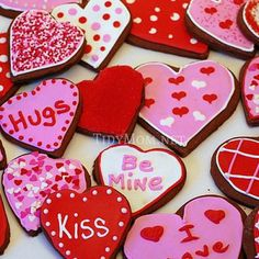 valentine cut out cookies - Google Search