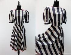 Vintage 1980s Day Dress Dressy dress polished by EightiesLadies