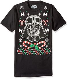 Star Wars Mens Vader Candy Canes Christmas Tee Black XLarge *** Read more reviews of the product by visiting the link on the image.