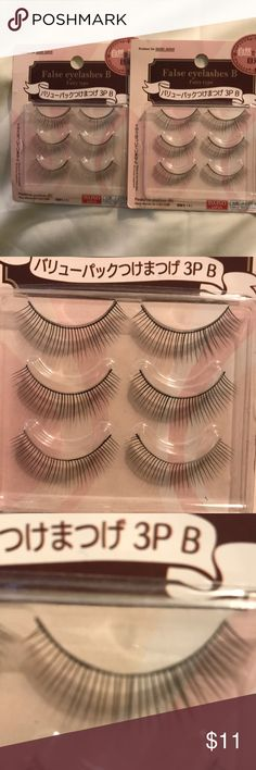 """6 Pair of Long """"Fairy Type"""" not Spidery Eyelashes 6 Pair of Long """"Fairy Type"""" not Spidery Eyelashes  These eyelashes have a thin ridge and they are long so although they are very natural and fresh looking...... (rather than looking like a spider eye or truly a sloppy costume affect where your beauty is hidden behind the eyelash mess... ) the ridge looks like a finished line of eyeliner so you look polished and fully made up where your beauty can shine through without a lot of cosmetics…"""