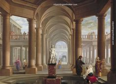 Dirck van Delen Architectural Fantasy with Susanna and the Elders, painting Authorized official website