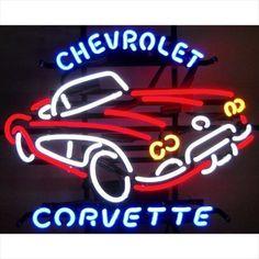 Chevrolet Corvette Neon Sign Man Cave Bar Gameroom New Neon Bar Signs, Home Bar Signs, Custom Neon Signs, Neon Light Signs, Beer Signs, Old Signs, Chevrolet Corvette C1, Neon Licht, Classic Corvette