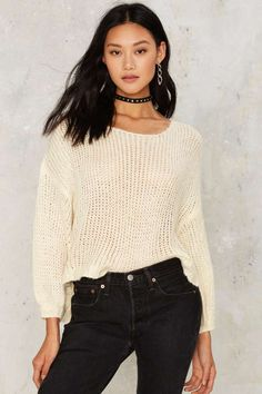 Keep It Open Sweater   Shop Clothes at Nasty Gal!