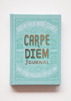 "Carpe Diem Journal 14.99 at shopruche.com. Seize the day with this whimsical journal featuring colorful full page illustrations, inspirational writing prompts, and plenty of space for all of your jottings.Chronicle Books, Hardcover, 5.25"" x 7.25"""