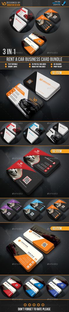 Business Card 3 in 1 Template PSD