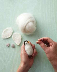 How to Make a Needle-Felted Penguin | Martha Stewart