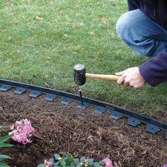 garden design - NoDig Landscape and Paver Edging Kit Metal Garden Edging, Paver Edging, Lawn Edging, Landscaping With Rocks, Front Yard Landscaping, Landscaping Ideas, Hillside Landscaping, Black Rock Landscaping, Residential Landscaping