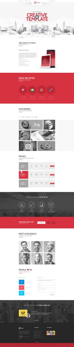 Itobuz One Page PSD Template