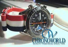 Brand: OMEGA Model: Speedmaster Mark 40 AM/PM Strap: NATO(Tri-Color 18mm) Owner: K.K.(Tokyo,Japan) Purchase this Strap at: http://www.chronoworld.com/watch-straps-bands/hdt-design/g10-type-nato-straps-17-various-colours.html