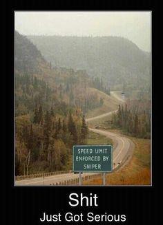 Speed Limit Enforced!! #gun #humor #funny