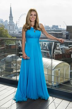It's official: Katherine Jenkins confirms that she has married American artist and filmaker Andrew Levitas Beautiful Gowns, Most Beautiful Women, Opera Dress, Katherine Jenkins, Women In Music, Blue Gown, Sexy Skirt, Perfect Woman, Special Occasion Dresses