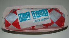 Kitchy dog tee packaging from Hot Dog! Canine Apparel.  All items ship packaged at no additional cost. Perfect for gifts!  http://www.etsy.com/shop/HotDogCanineApparel