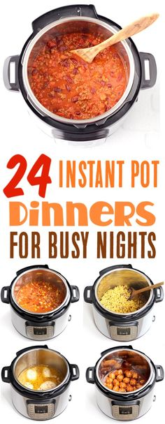 Easy Instant Pot Recipes for Busy Nights! You'll love these Chicken Dinners, Healthy Family Recipe Ideas, and Delicious Comfort Food Classics! Go grab the recipes, and give them a try!