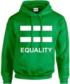 WEDDING GIFT Equality Irish Green Hoodie Unisex Lgbt by ShopLGBTQ