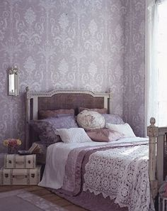 purple bedroom. More French than I want to be, but captures a mood
