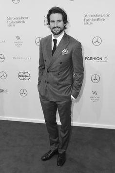 Tom Beck im Januar 2016 bei der Modenschau von Baldessarini, Berlin Fashion Week